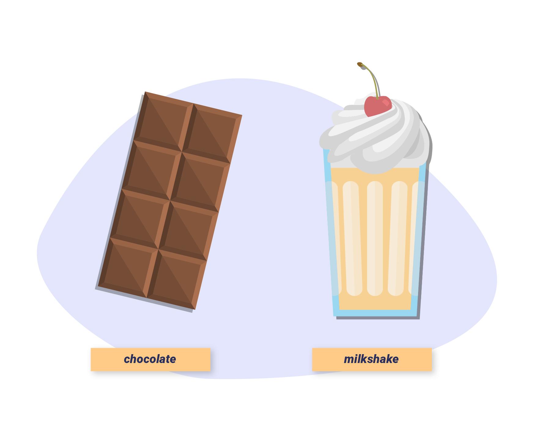 Chocolate and milkshake illustration