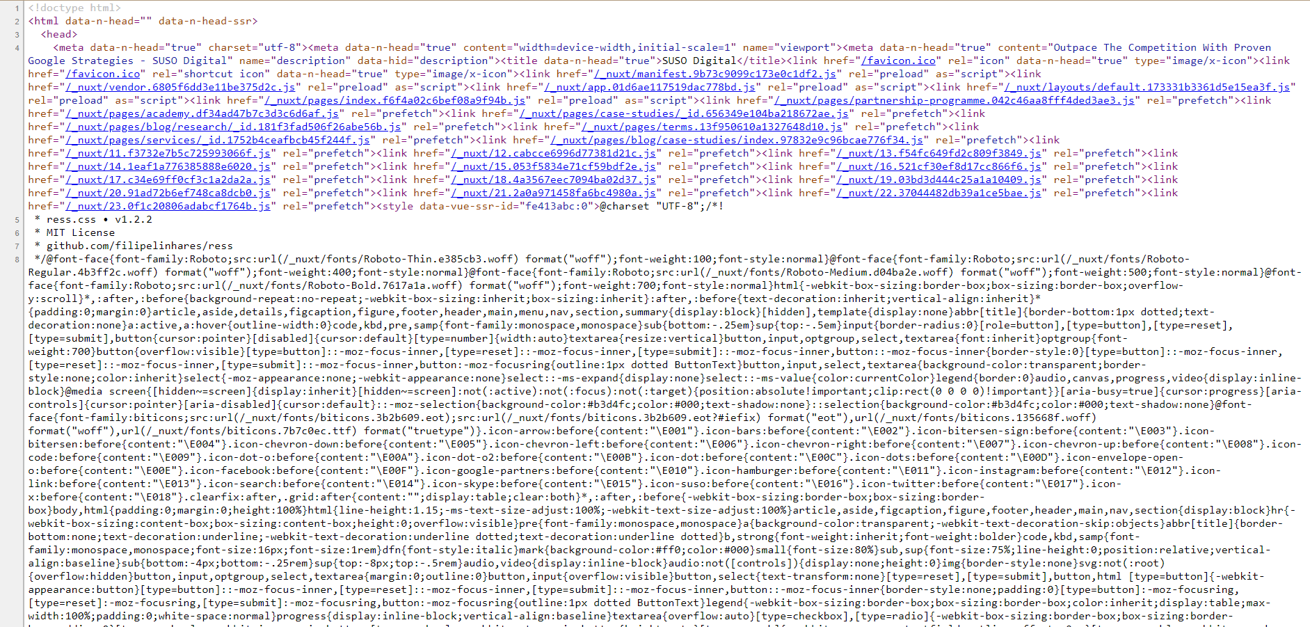 susodigital.com website source code