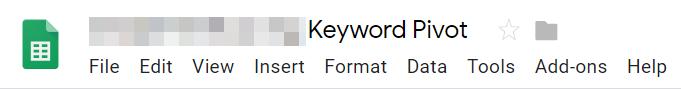 FKR - IGS - step 6 - Name spreadsheet