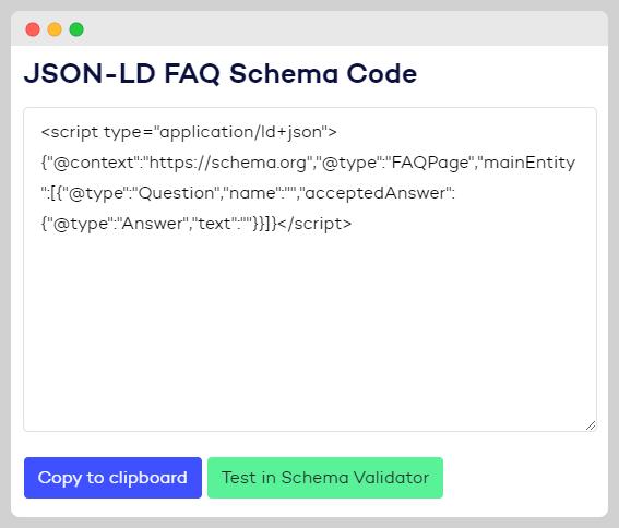 FAQ Schema Tool